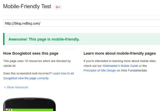 Mobile Friendly Test