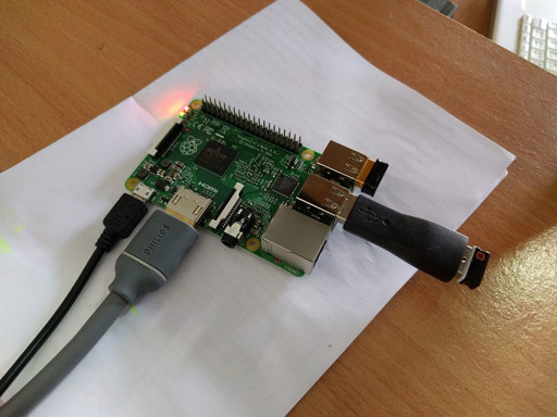 Raspberry Pi plugged in