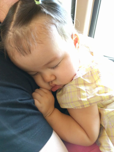 Annabelle Sleeping in Daddy's Arms